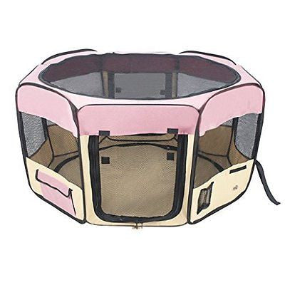 "Jespet 61"" Foldable Portable Dog/Cat/Rabbit/Puppy Pet Playpen Exercise Pen Kenne"