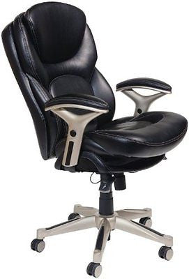 Serta 44186 Back in Motion Health and Wellness Mid-Back Office Chair Black