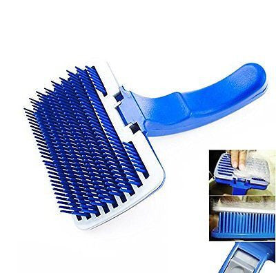 New Pet Dog Cat Grooming Self Cleaning Slicker Brush Comb Shedding Tool Hair Fur