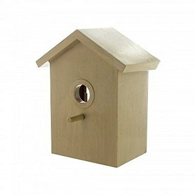 Window BirdHouse Clear See Through Viewing Slide Out Rear Panel - Bird Watching