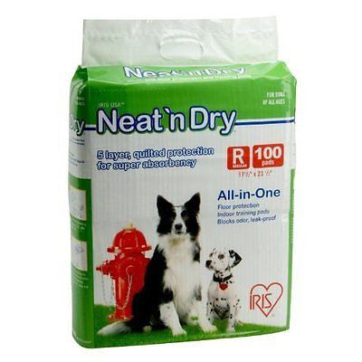 IRIS Neat 'n Dry Premium Floor Protection Pet Training Pads, Regular, 200-Pack