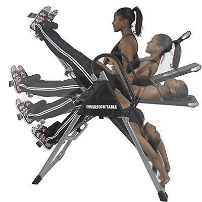 Shopperchoice Inversion Table Pro Deluxe Fitness Chiropractic Table Exercise