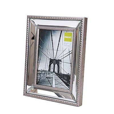 nexxt Sutton Mirrored Picture Frame, 5 by 7 Inch, Champagne