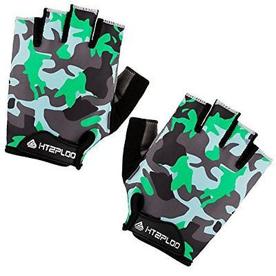 Cycling Gloves with Shock-absorbing Foam Pad Breathable Half Finger Bicycle