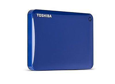 Toshiba Canvio Connect II 1TB Portable Hard Drive, Blue (HDTC810XL3A1)