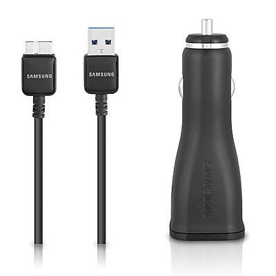 Samsung Car Charger and USB 3.0 5-Feet Cable - Non-Retail Packaging - Black