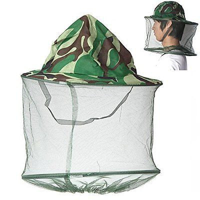 Foldable Outdoor Camouflage Field Jungle Fishing Bucket Hat Mask Cap Mosquito