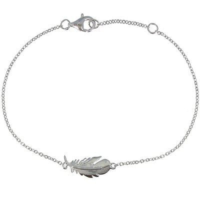 Sterling Silver Bracelet with Bird Feather