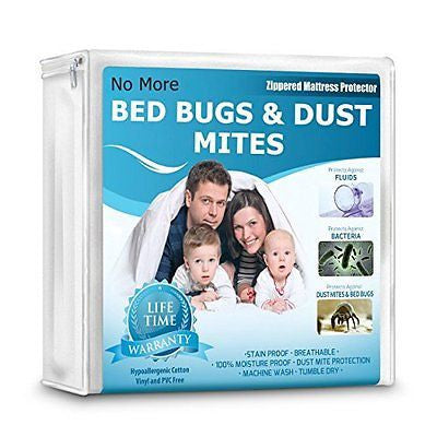 Waterproof Mattress Protector 100% Hypoallergenic Bed Bugs & Vinyl Proof King