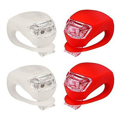 Refun Bicycle Light - Front and Rear Silicone LED Bike Light Set