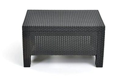 Keter Corfu Coffee Table New All Weather Outdoor Patio Garden Backyard