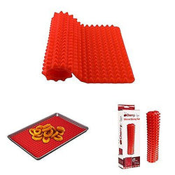 Cherry Appliances Silicone Baking Mat Perfectly Drains Excess Fats