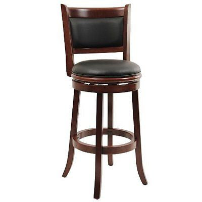 Boraam 49829 Augusta Swivel Stool 29-Inch Cherry