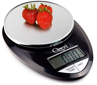 Ozeri Pro Digital Kitchen Food Scale 1g  12 lbs Capacity in Stylish Black New