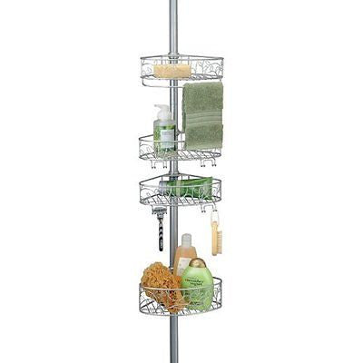 InterDesign Twigz Bathroom Constant Tension Shower Caddy Pole for Shampoo