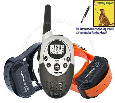 TrainPro Exec Dual 1100 Yard Dual Rechargeable Remote Control Dog Training