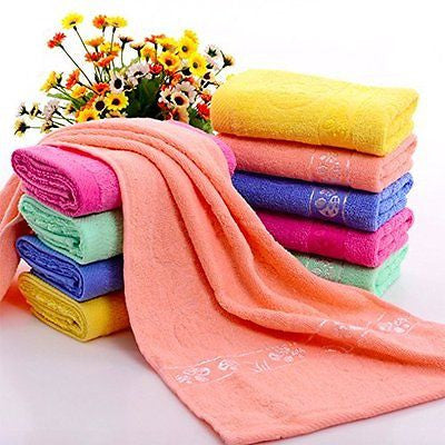 Cotton Washcloths-hand-face Towels Pack , 7 Pieces,7 colors, 27.5 X 13.4 inches