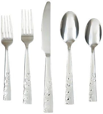 Cambridge Silversmiths Blossom Sand 20-Piece Flatware Set