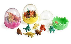 9Snail Mini Dinosaur Eggs - 12 eggs - 96 Dinosaur Erasers Toys Party Bag