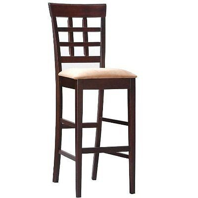 Coaster Bar Stools, Solid Wood Cappuccino with Wheat Back,30