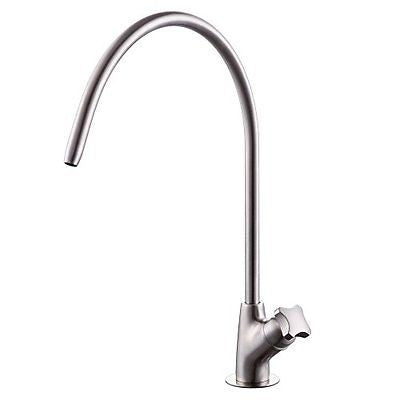 KES Lead Free Beverage Faucet Filtration System 1/4-Inch Tube Stainless Steel
