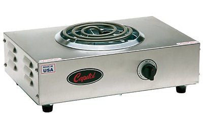 "Capitol Range Single Burner Hot Plate, 17.5"" x 3.5"" x 11.5"""
