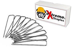 100 Quantity General Purpose Landscape Staples - eXtreme Brand