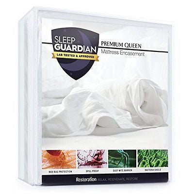 Mattress Encasement - Lab Tested Waterproof Bed Bug Proof  Zippered Encasement
