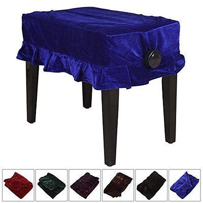 OriGlam? Pleuche Musical Piano Dust Guard Stool Cover Slipcover