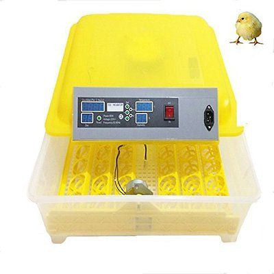 48 Digital Clear Egg Incubator Hatcher Automatic Egg Turning Temperature Contro