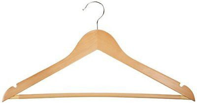 Wood Suit Hangers - 30-Pack Maple