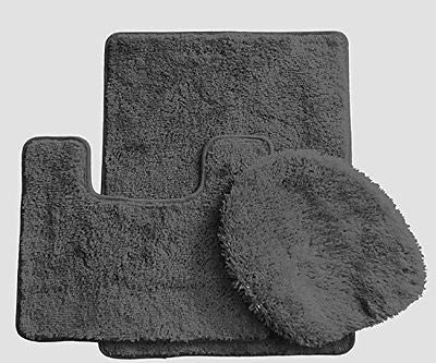 Royal Plush Collection 3-Piece Bathroom Rug Set, Bath Mat, Contour