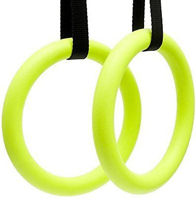 Gymnastics Rings With Adjustable Straps For Crossfit , Strength Training , Pull