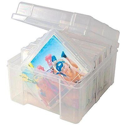Advantus Photo Keeper Box with 6 Individual Clear Photo Cases