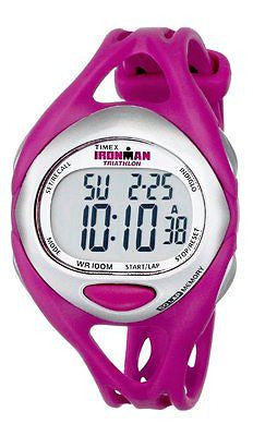 Women's T5K7599J Ironman Sleek 50-Lap Fuchsia Resin Strap Watch