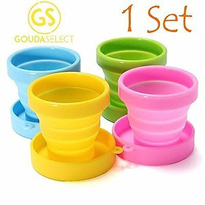 Gouda Select Collapsible Silicone Cup for Travel Camping School Outdoor