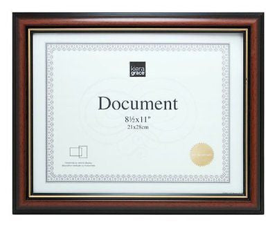 Kiera Grace Kylie Document Frame, 8.5 by 11-Inch Document, Brown