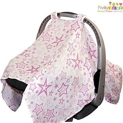 Newborn Baby Car Seat Canopy Is Breathable Provide Protection Against Sunlight