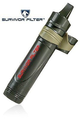 Reusable Portable Water Filter with Triple Absolute Filtration to 0.05 Microns