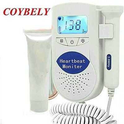 Cobely Pocket Baby Heart Monitor with Lcd Loudspeaker Waterproof Probe