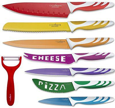 Chopmate Color Stainless Steel Non-Stick Coated Kitchen Knife Set