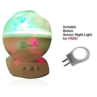 LED Constellation Night Light Projector Aurora Borealis Speaker Baby
