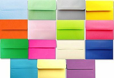 Multi Color Assortment (100 Boxed) A7 Envelopes for 5 X 7 Greeting Cards
