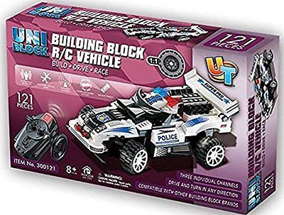 UniBlock Remote Controlled RC Building Block Police Car High Speed Chase
