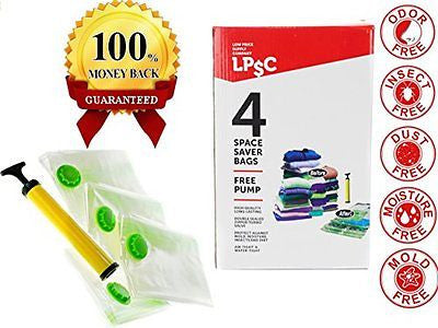 LPSC Best Space Saver Vacuum Seal Storage Bags Mixed Sizes Free Travel Pump