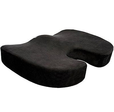 Cush Memory Foam Seat Cushion - Spinal Alignment Chair Pad for Relief Back Pain