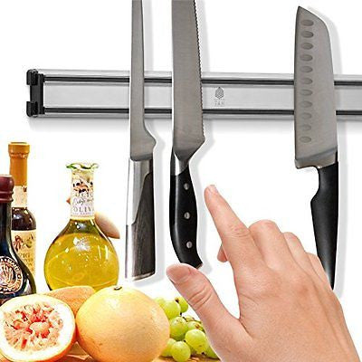 T&Hproducts -Magnetic Knife Holder - Storage Strip - Kitchen Knives Bar