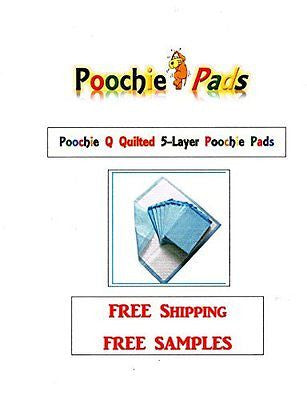 "150ct 23x36"" Poochie Q Quilted Pads For Dogs up to 80lbs 5-Ply Effective up to 8"