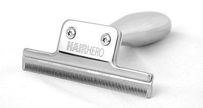 Hair Hero Dog and Cat Brush, Stainless Steel Deshedding Tool to Reduce Shedding
