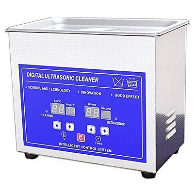 3.2L Digital Ultrasonic Cleaner Machine with Timer Heated Stainless steel